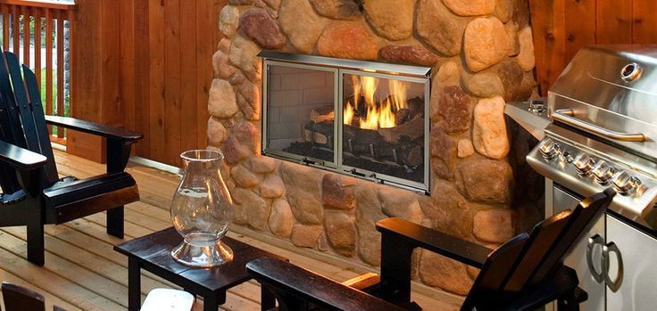 Majestic Villa Gas Outdoor Gas Fireplace | OURFIREPLACE