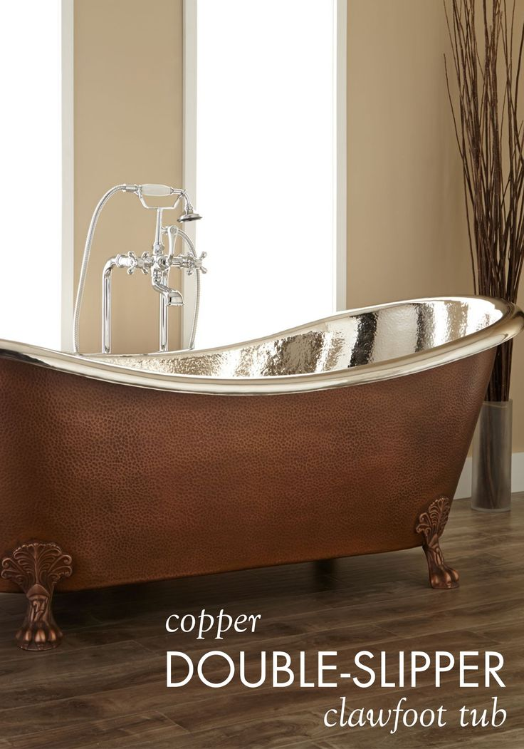 72 Quot Isabella Copper Double Slipper Clawfoot Tub Nickel