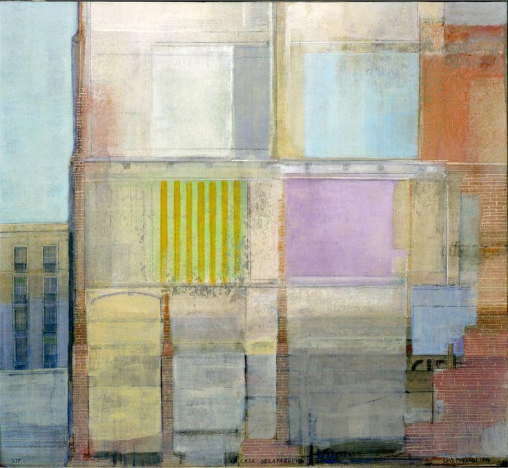 """Luis MARSANS  """"La casa desaparecida""""  1997. Technique mixte sur carton,: Desaparecida 1997, Luis Marsans, Home, Art, Medianera Cities, Marsan La, Casa Desaparecida, Marsans La, Art Projects"""