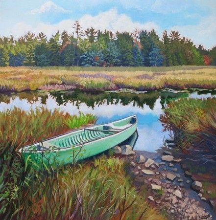 Seafoam Canoe - Anna Clarey