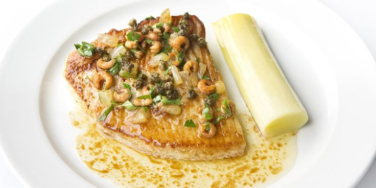 This delicious skate wing recipe from Bryn Williams showcases how well simple flavours can marry together to make a spectacular dish, as the leek is as much a hero as the skate.