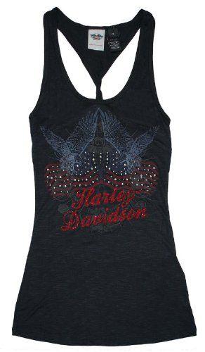 Harley-Davidson® Women's Twist Tank Top Shirt. Embellished Graphic on Front. Tee   http://bikeraa.com/harley-davidson-womens-twist-tank-top-shirt-embellished-graphic-on-front-tee-98042-12vw/