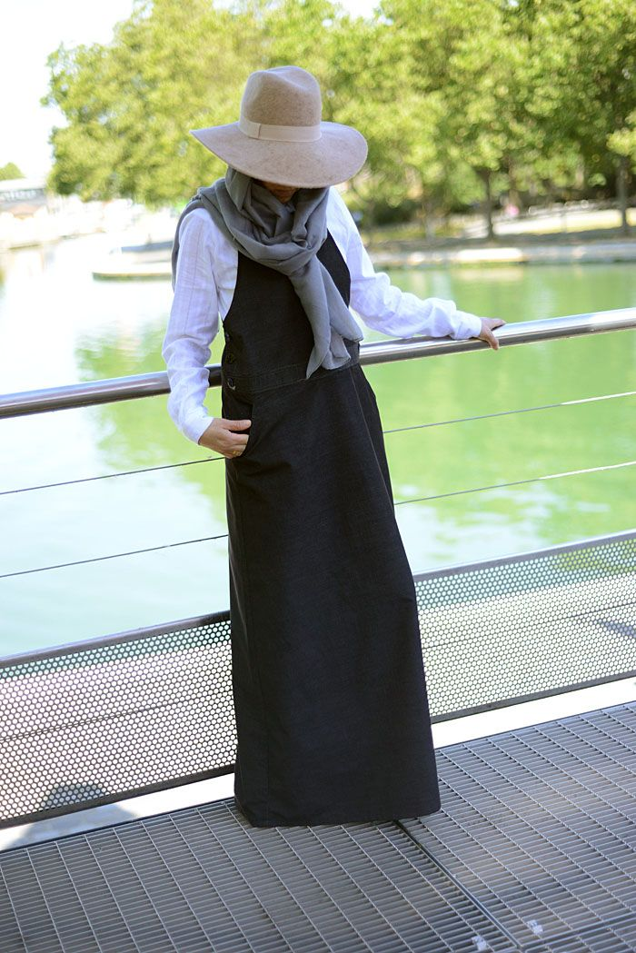 #modest #fashion #salopette #robe #pudique #musulmane #islamic #longue #velours #milleraies