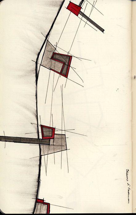 ARCHITECTURAL COLOR SKETCHES | 926  innocentbydesign:SKETCHBOOK