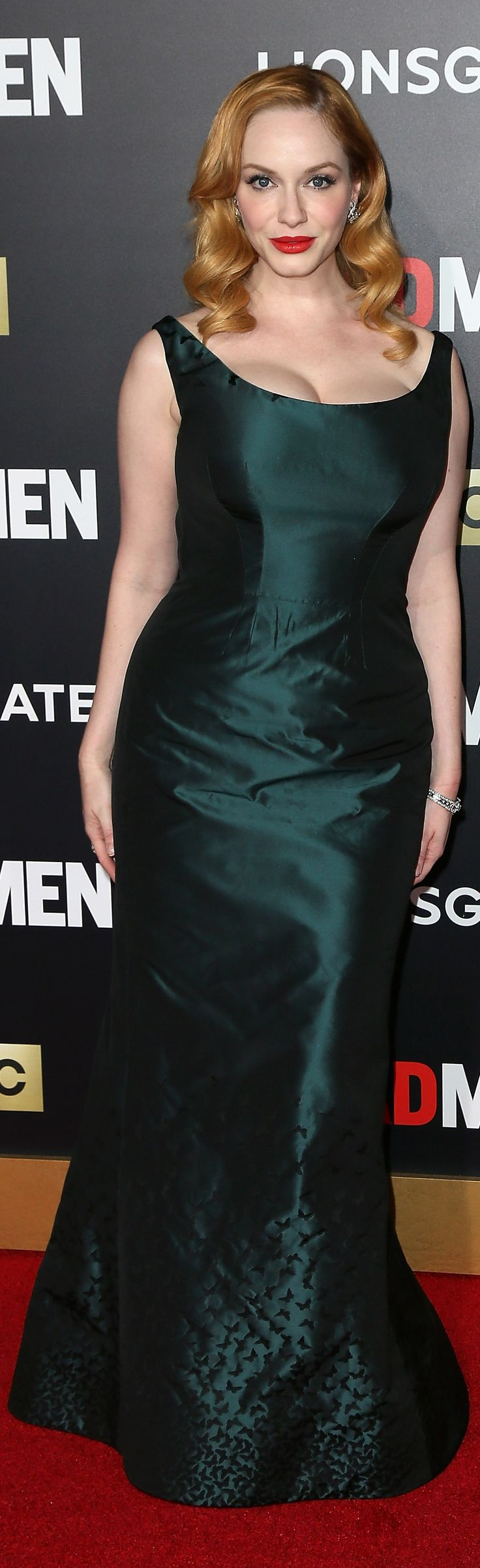 Christina Hendricks's Zac Posen gown played tricks on the red carpet!