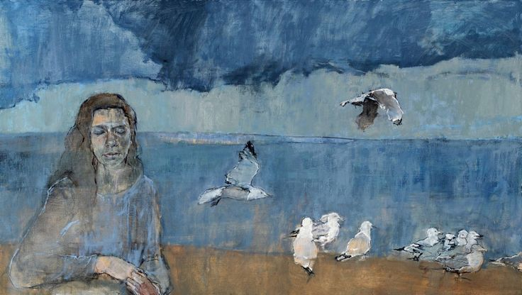 "Write-up in the Chicago Sun-Times about the ""stormy paintings"" of Ellen Holtzblatt's From Birth to Memory exhibition."