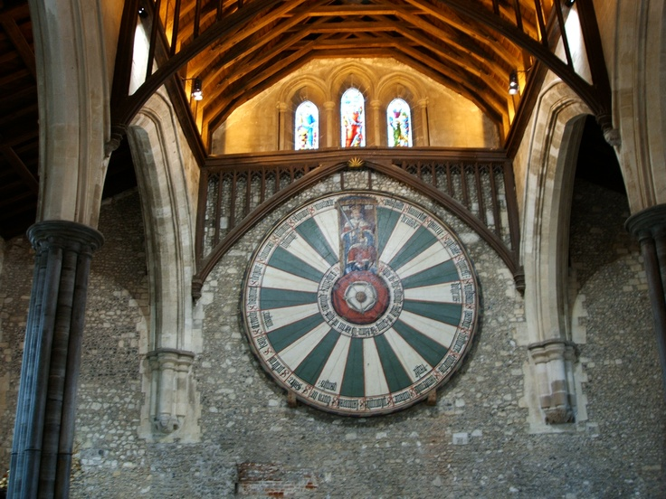The Round Table In Winchester Cathedral, Winchester Cathedral Round Table
