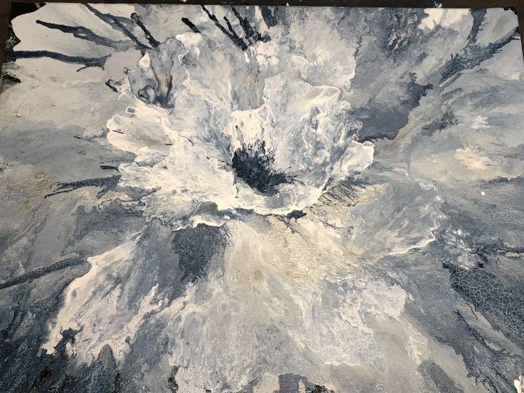 GREY SUEDE - HAND PAINTED ORIGINAL BY KATHY KUBAY