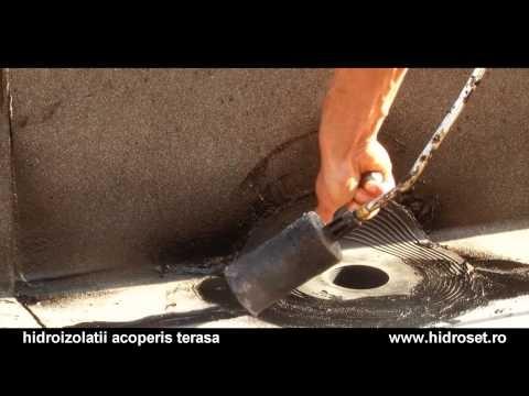 Live sound of waterproofing works, sealing roof terrace