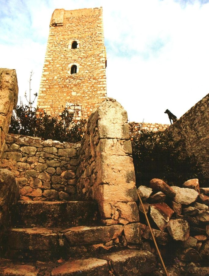An impressive tower in Pyrgos Dirou, Mani.