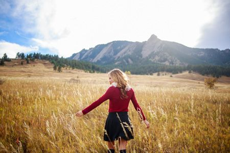 Denver Senior Pictures | Senior Portraits | Senior Portrait Photography | Boulder Colorado Flatirons | Chautauqua