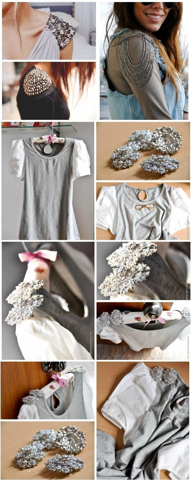 Glam Radar | 12 DIY Embellished Outfit Ideas Sleeve embellishment!: Glam Radar | 12 DIY Embellished Outfit Ideas Sleeve embellishment!