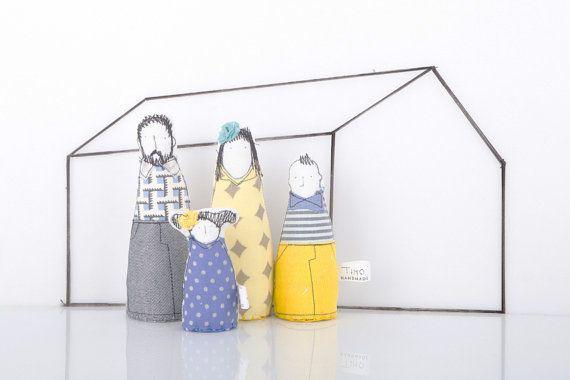 Timo Handmade   Family Dolls Doll-house Handmade