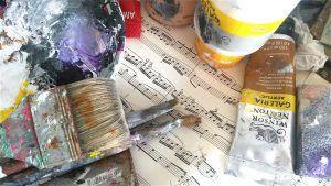 schilderen op muziek afb