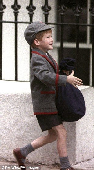 Prince Harry had his first day at primary school two years later, in 1989