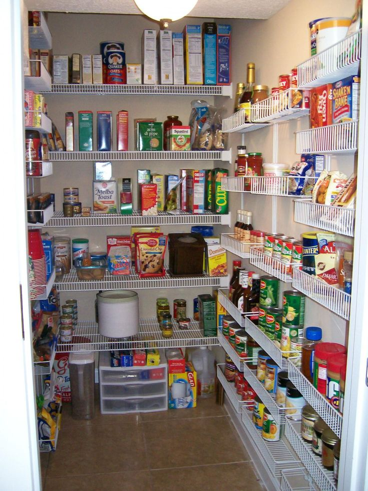 141 best walk in pantry images on pinterest cupboard for Modern walk in pantry