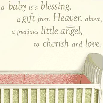 Baby Blessings And Wishes | ... The Home Wall Decal Quotes A Baby Is
