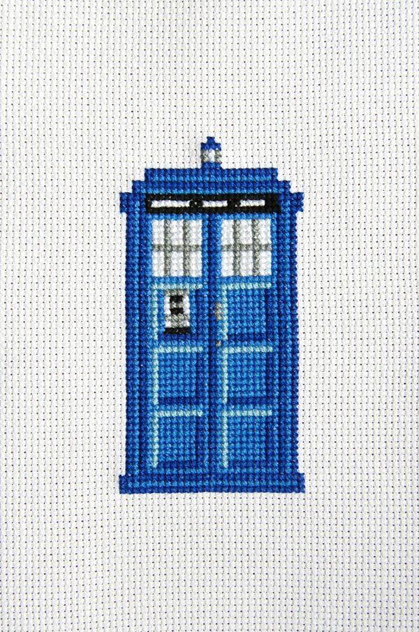 cross stitch patterns for the tardis - Google Search