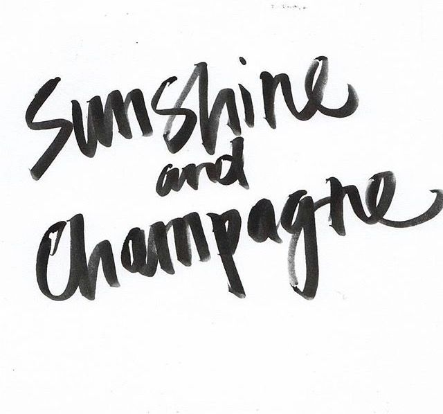 sunshine and champagne - perfect combination for summer | quote