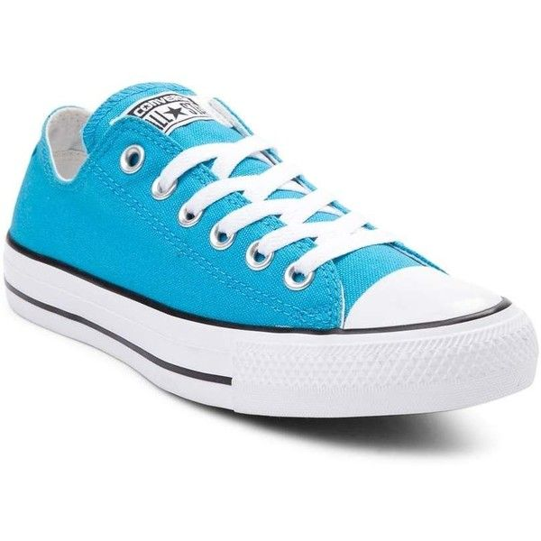 Converse Chuck Taylor All Star Lo Neon Sneaker ($99) ❤ liked on Polyvore featuring shoes, sneakers, neon sneakers, converse trainers, neon shoes, converse sneakers and converse shoes