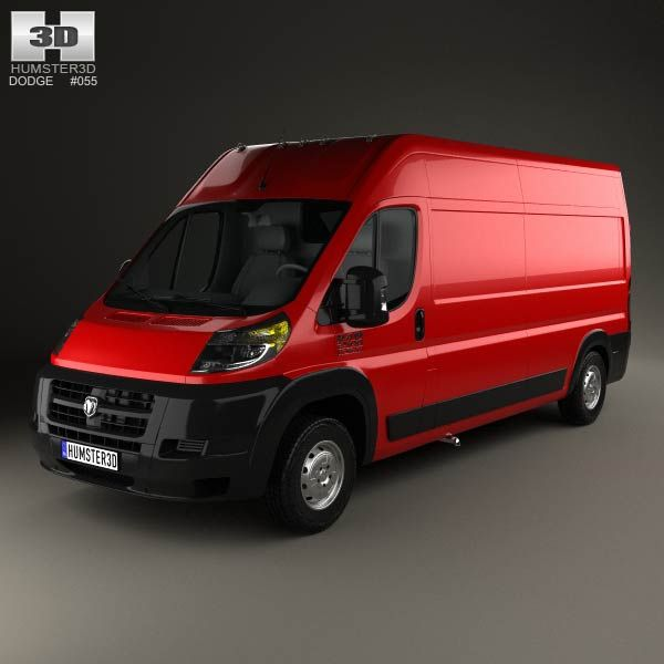 dodge ram promaster cargo van l3h2 2013 3d model dodge rams models and cargo van. Black Bedroom Furniture Sets. Home Design Ideas