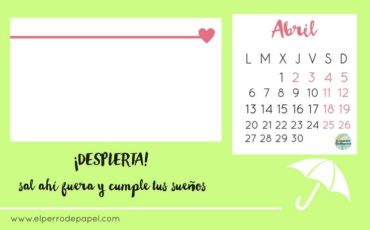 Calendario abril 2015 (iniciativa Blogueros Fandangueros)