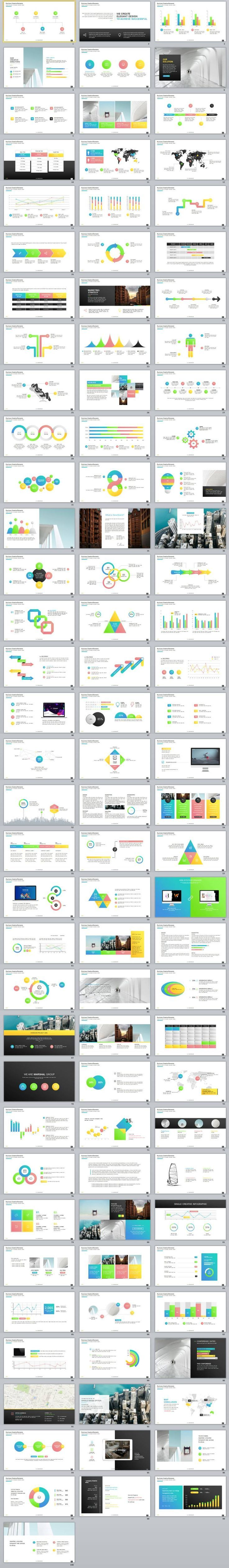 100+ Best multicolor infographics charts PowerPoint Template