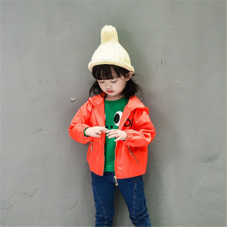 >> Click to Buy << 2017 Boys Girls Jacket Wind Coat Children Unisex Orange Black  Outcoat Ski-wear Kids Clothes Boys Girls Spring Autumn Jacket #Affiliate