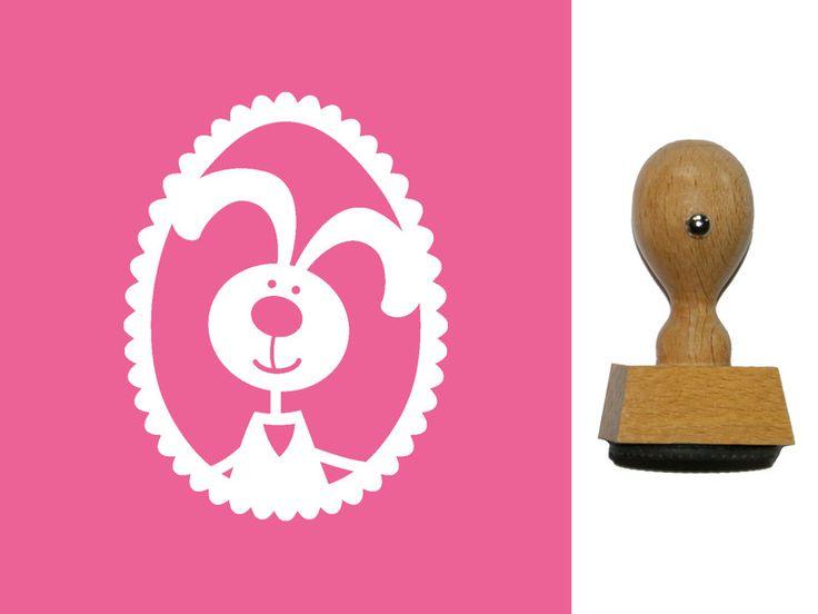Tiere - Stempel Hase im Osterei (990000) - ein Designerstück von designs-for-you bei DaWanda