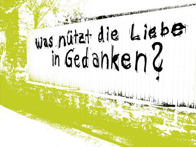 STREET ART aus Wernigerode.  Angelehnt an den Film mit August Diehl und Daniel Brühl: Love in Thoughts