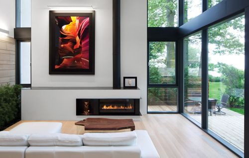 monochrome with random bursts of color.: Interior Design, Living Rooms, Window, Smyth Architects, Fireplaces, Architecture, House, Homes