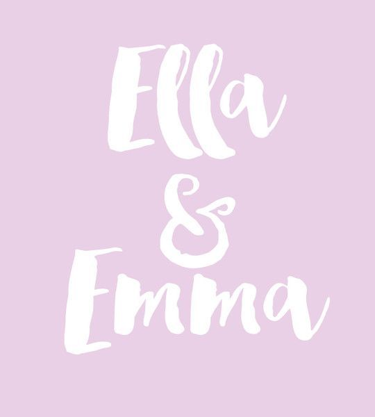 Ella & Emma - Baby Names That Are Perfect for Twins - Photos