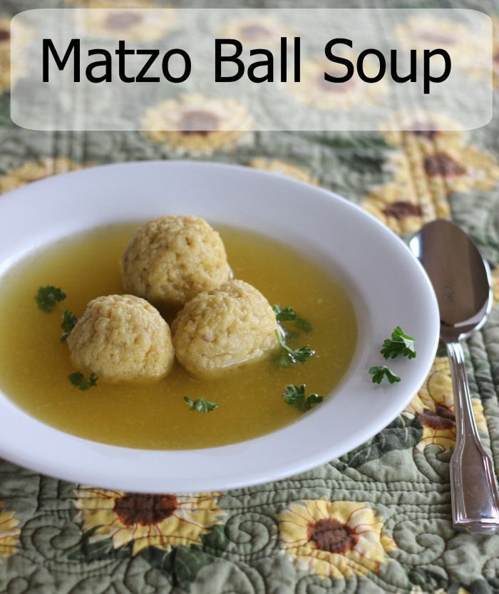 Matzo Ball Soup - This is my personal comfort food! - Momcrieff