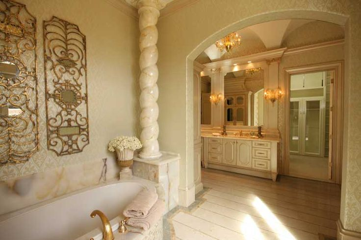 Italian renaissance bathroom designed by tracy rasor and alana villanueva dallas design group for Home decor interiors bathroom