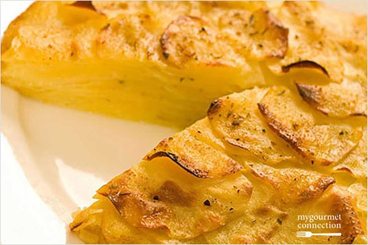 Oven-Roasted Potato Galette: A simple oven roasted potato dish with plenty of flavor and eye-appeal. Nice for a company meal.