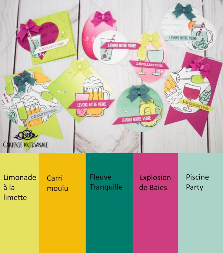 Couleur Combo boîte à cartes  Color combo for gift boxes