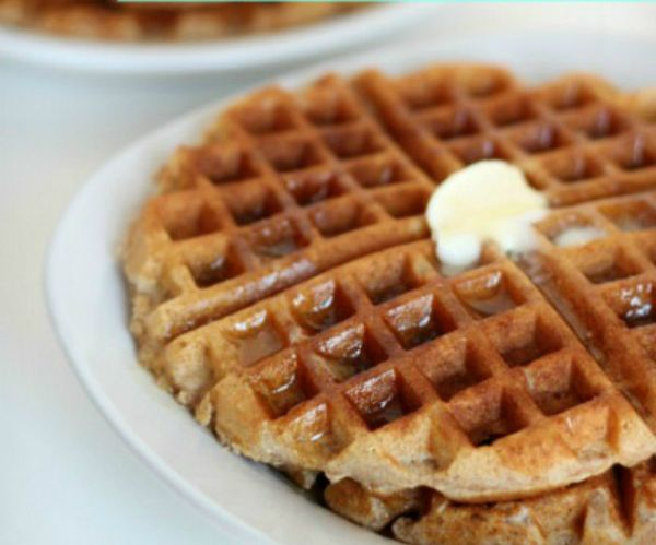 The perfect Homemade Whole Wheat Waffles, you will never believe they are made with all whole wheat flour and still taste so soft and fluffy - Real Life Dinner