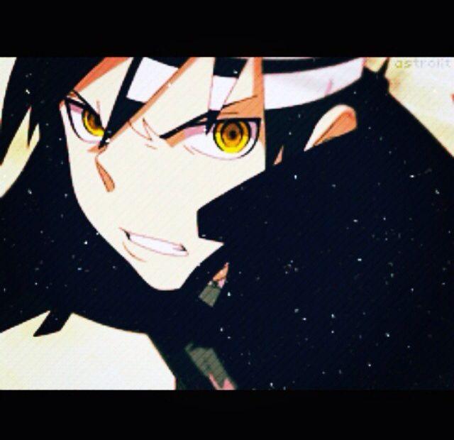 Death the kid. Your eyes are very insightful....❤ I love this GOLDON eyes...                     Quegli occhi dorati sono...penetranti.❤