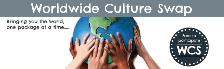 Worldwide Culture Swap - free cultural exchanges between families to help build up continent boxes.