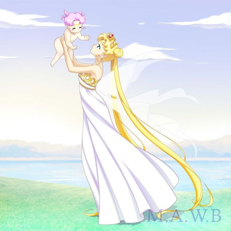 Neo Queen Serenity And Baby Chibiusa By Drachea Rannak