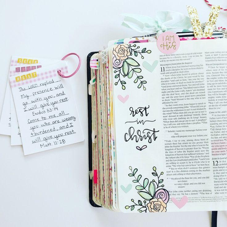 Ruhe in christus Elli   – Bible doodles