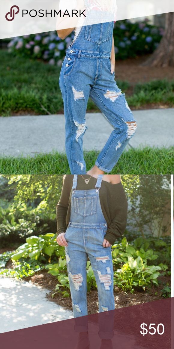 American rag denim overalls Brand new American rag denim overalls fits like a small or tighter medium American Rag Other