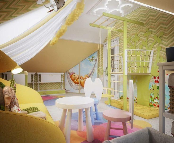 Kinderzimmer einrichten - Spielspaß mit Klettergerüst