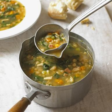 Hearty Winter Minestrone with Kale, Black-Eyed Peas and Root Vegetables: Winter Vegetable Minestrone with lacinato kale and celery root