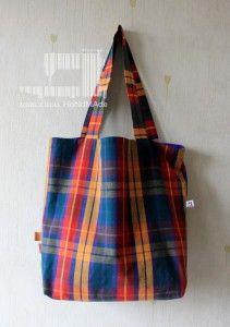 torba zakupowa kratka multikolor