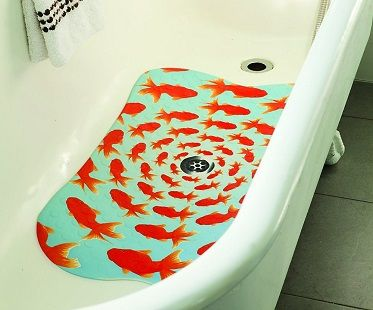 goldfish bathtub mat