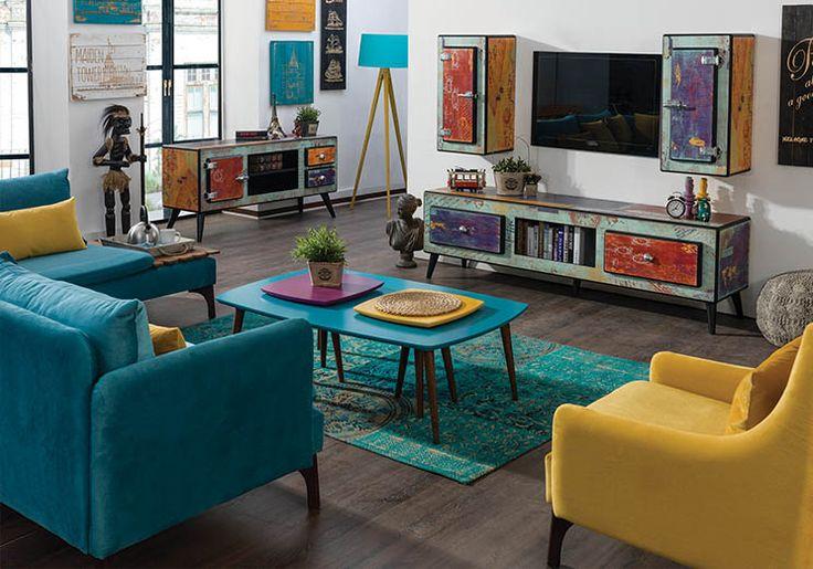 Jazz Tv Unitesi | Duvar Ünitesi | Modern TV Üniteleri