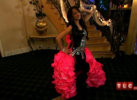Savannahs Cancan Inspired Gown Is Hot Pink And Black With Crystals A Torso Sized Eiffel Tower Find This Pin More On My Big Fat American