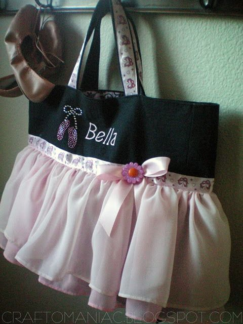 Ballet Bag....I want to make Elly one of these!