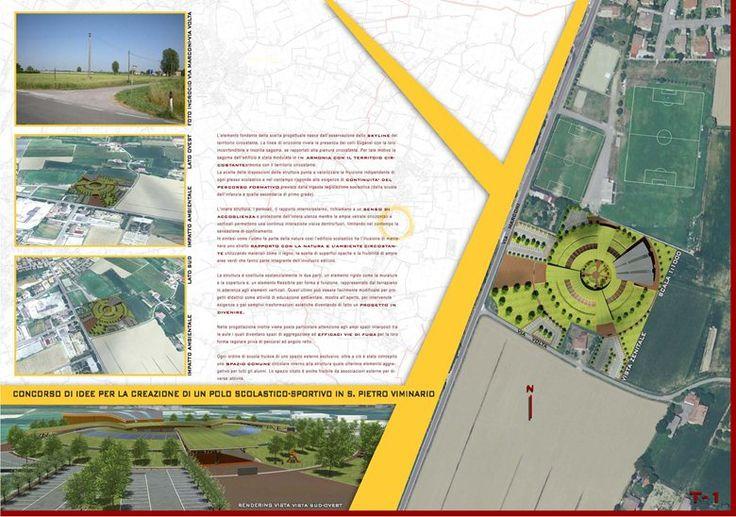 Concorso di idee polo scolastico a S. Pietro Viminario PD, San Pietro Viminario, 2009 - Geom. Paolo Gollo - www.studiogollo.com - tel: 049/5845145